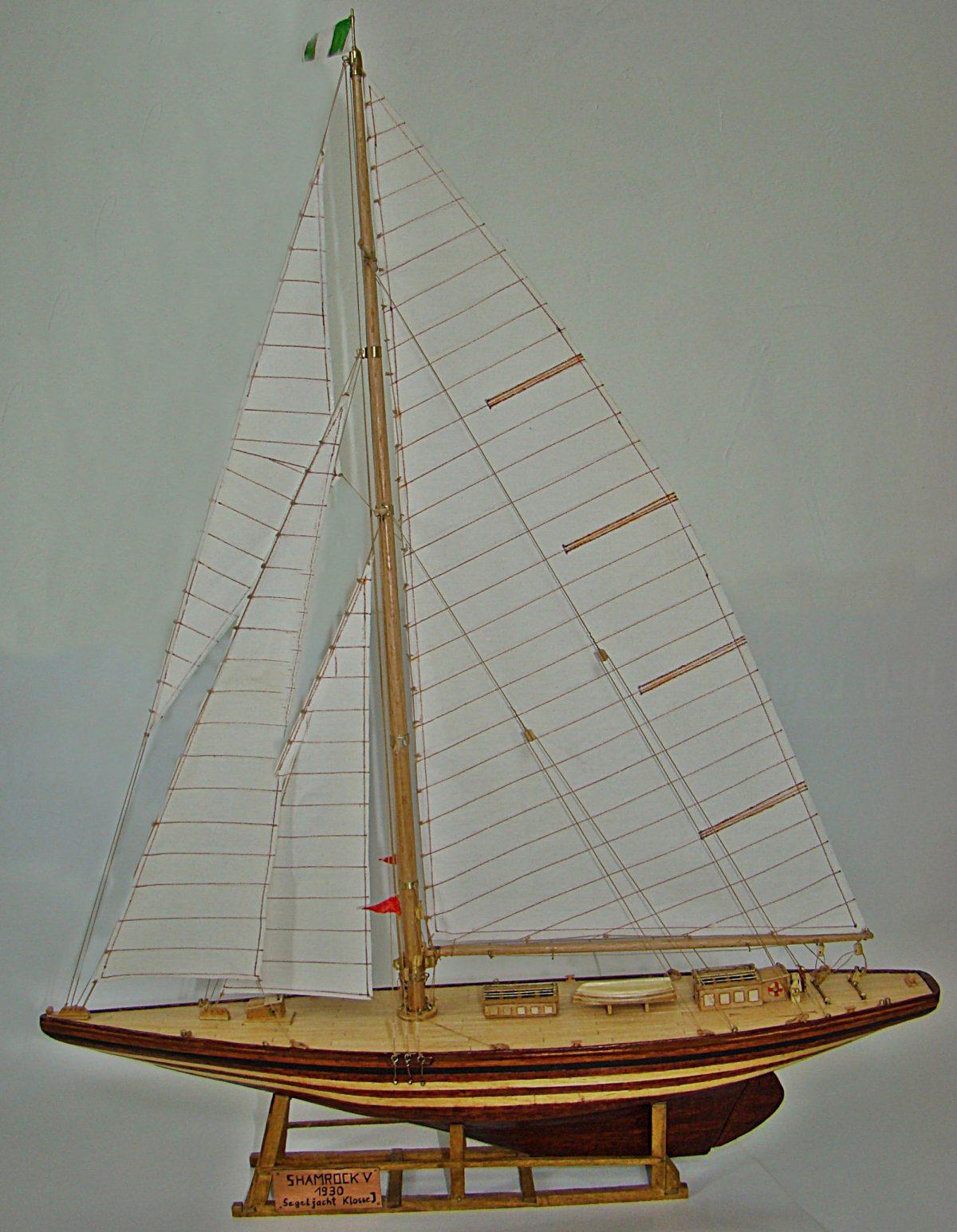 Shamrock, America's Cup, historisches Schiffsmodell