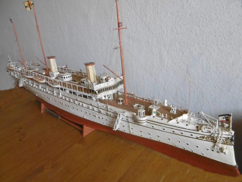MS Hohenzollern, Kaiserliche Yacht, historisches Schiffsmodell