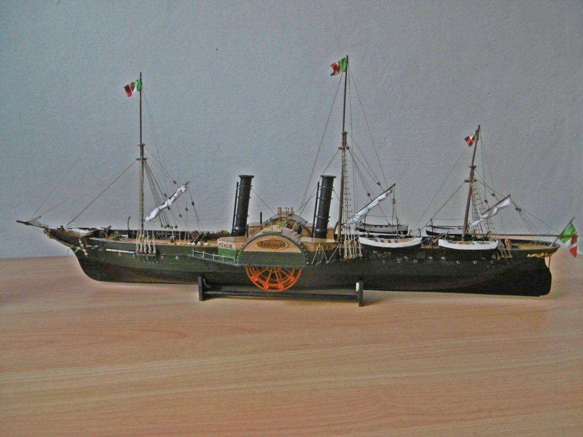 Esplanade Seitenraddampfer, historisches Schiffsmodell