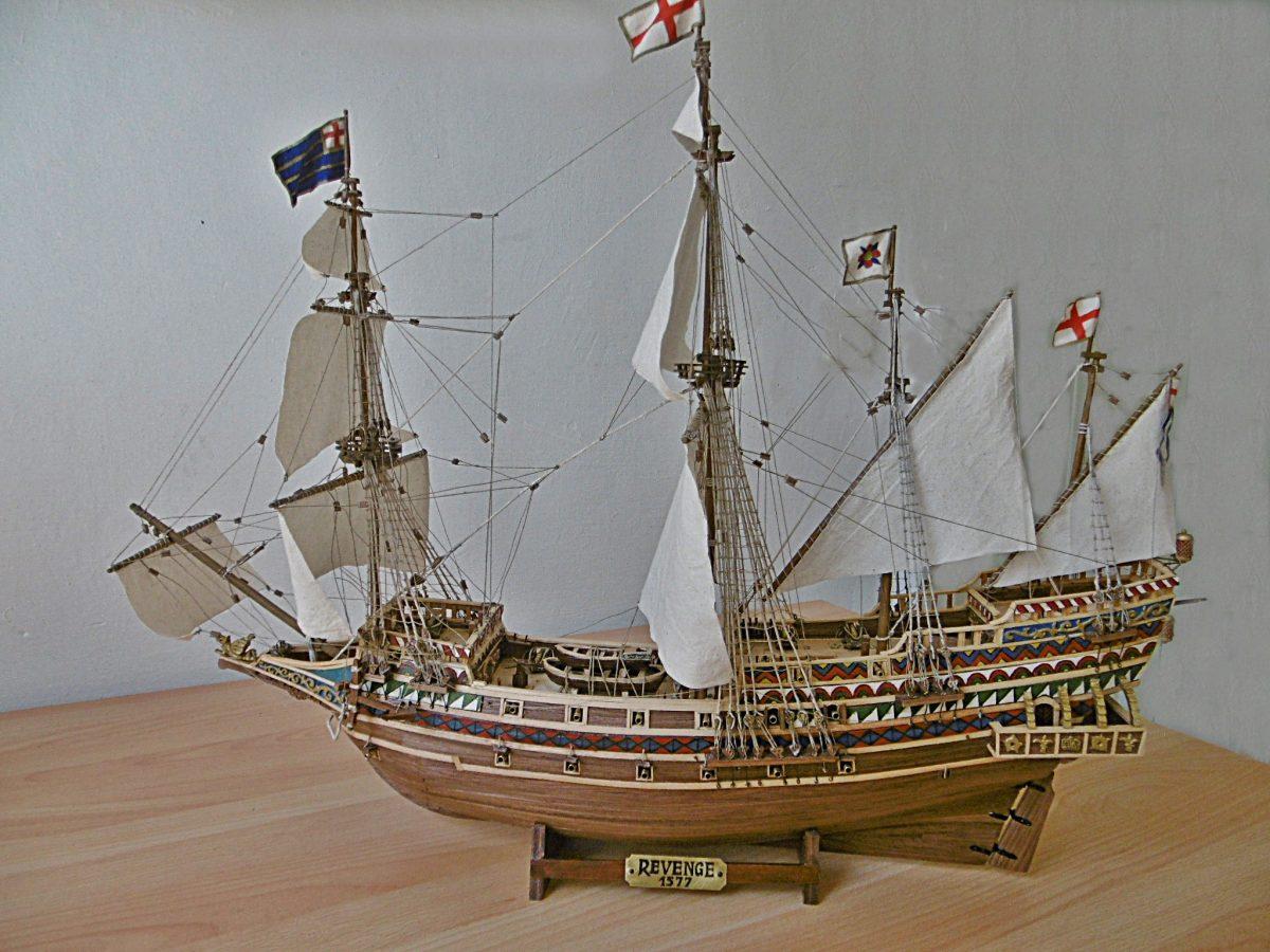 """Kriegsschiff """"Revenge"""" 1577 Elisabethianische Galeone (Flaggschiff von Sir Francis Drake)"""